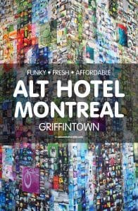 Funky Fresh Affordable Alt Hotel in Griffintown Montreal
