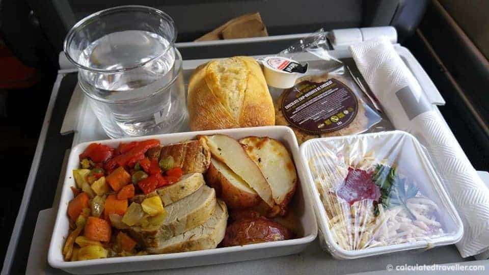 A VIA Rail Business Class Adventure from Montreal to Toronto train - Business Class Lunch