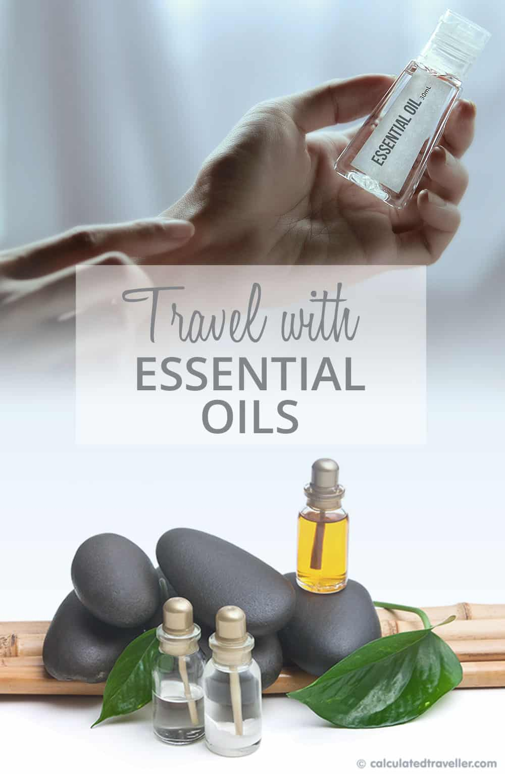 Do you practice aromatherapy at home? Here are tips for travelling with your favourite blend of essential oils to help you feel great wherever you travel. #travel #EssentialOils #Oils #EOs #packing #advice #HowTo