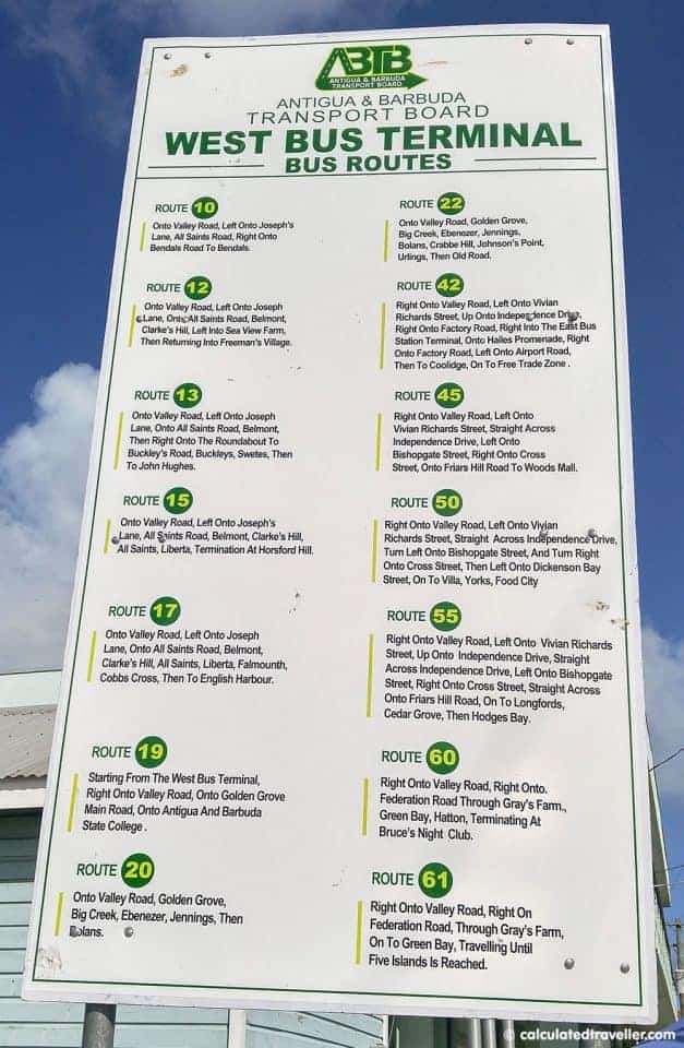 One Pristine Day at Turners Beach in Antigua - Antigua Bus Route Map