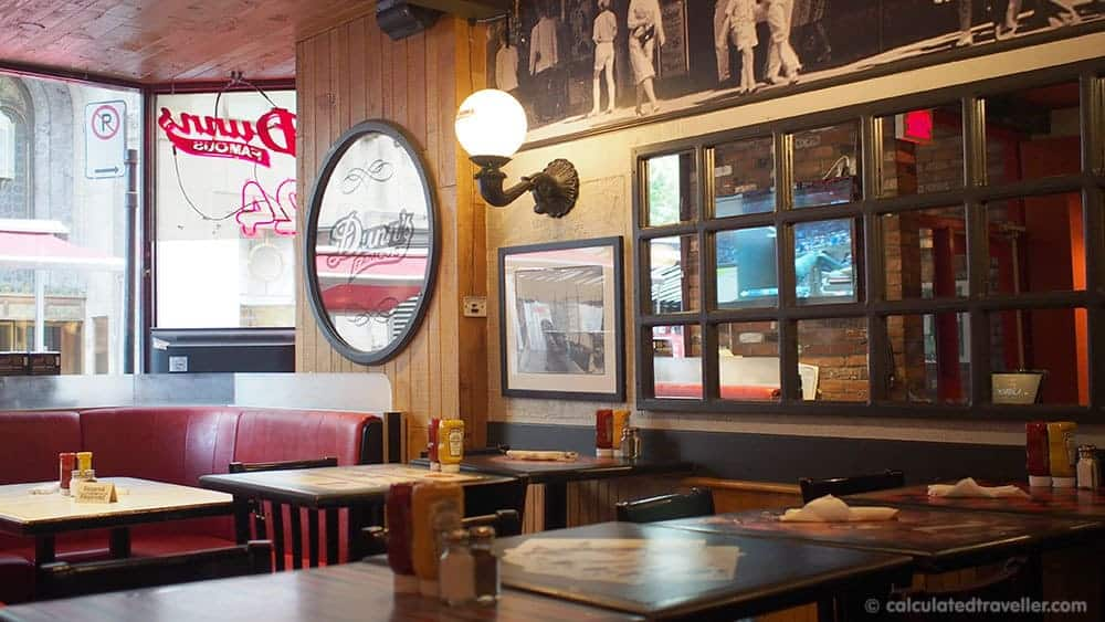 4 Very Different Restaurants in Montreal Quebec - Dunns Famous Deli