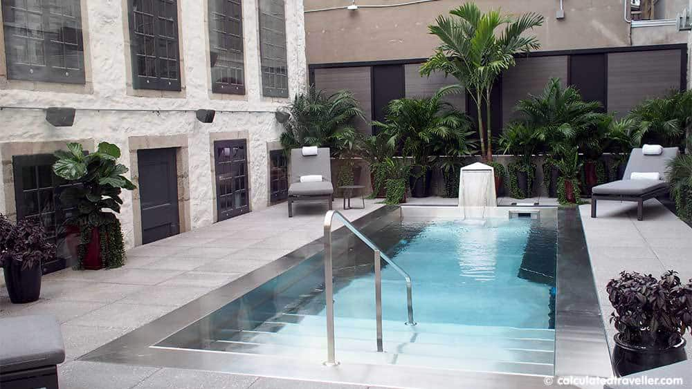 Hotel William Gray - An Upscale Boutique Hotel in Old Montreal Quebec - Outdoor Pool. A review by Calculated Traveller. #hotel #review #Montreal #Quebec #travel #Canada