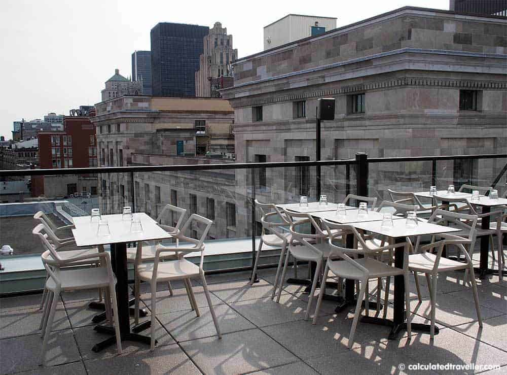 Hotel William Gray - An Upscale Boutique Hotel in Old Montreal Quebec - Rooftop Terrace. A review by Calculated Traveller. #hotel #review #Montreal #Quebec #travel #Canada