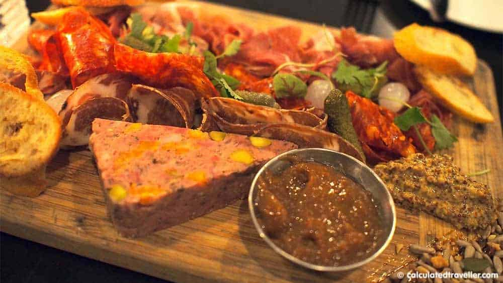 Upscale Grill Maggie Oakes in Old Montreal Quebec - Charcuterie Platter