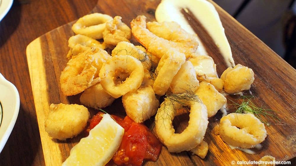 4 Very Different Restaurants in Montreal Quebec - Calamari Fritti