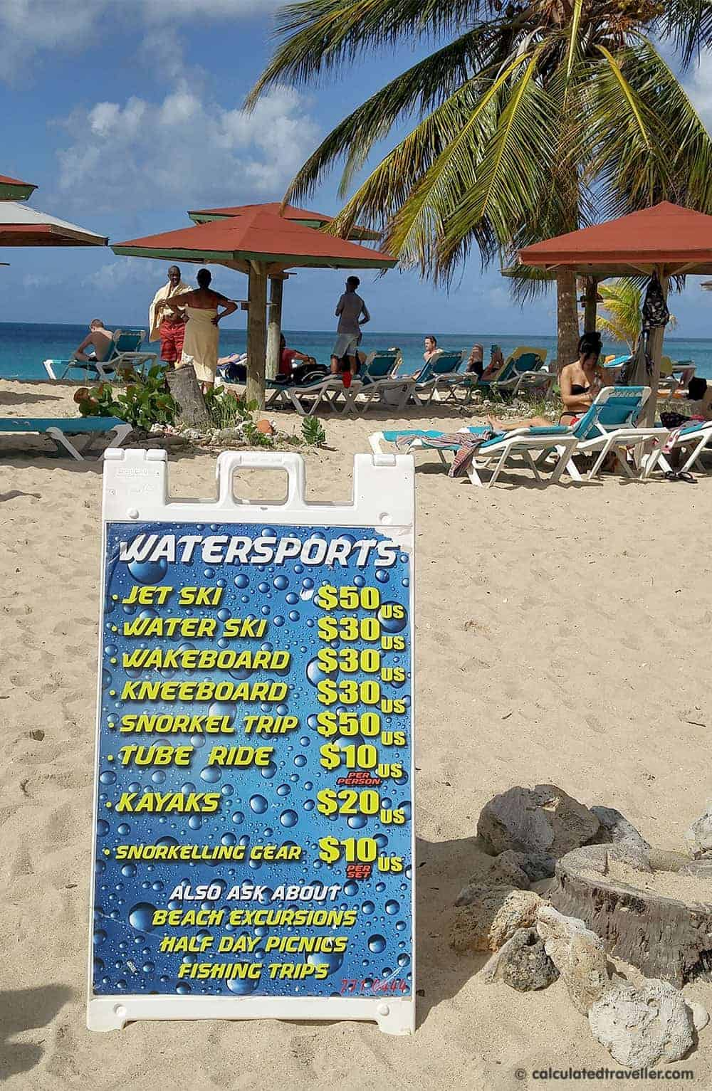 One Pristine Day at Turners Beach in Antigua - water sport fees
