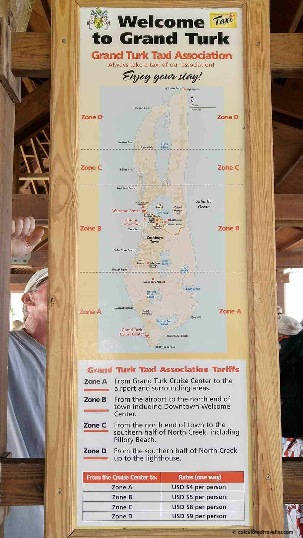 White Sand Seclusion at Governor's Beach Grand Turk, Turks and Caicos - Grand Turk map of taxi fares