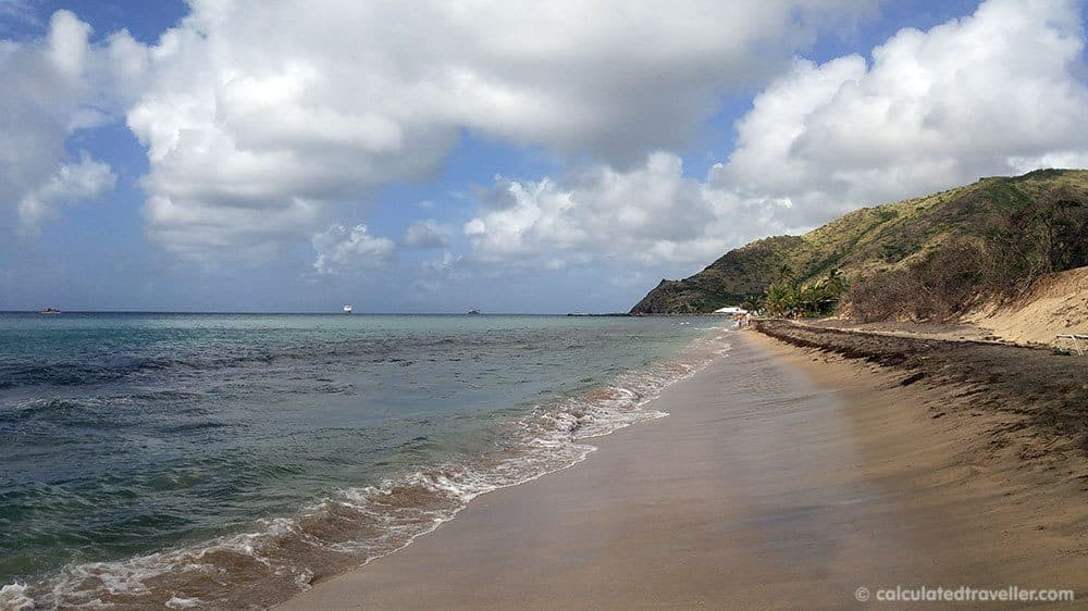 A Relaxing Day with the Black Sands of Shipwreck Beach St. Kitts