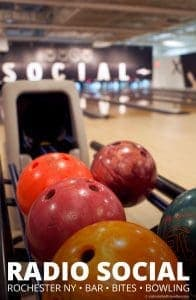 Radio Social Rochester New York - Bar, Bites, and Bowling for a fun casual evening out with friends by Calculated Traveller Magazine