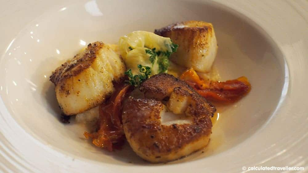 Fun in the Sun on St. Pete Beach Florida at Sirata Beach Resort - Compass Grille Restaurant - Scallops