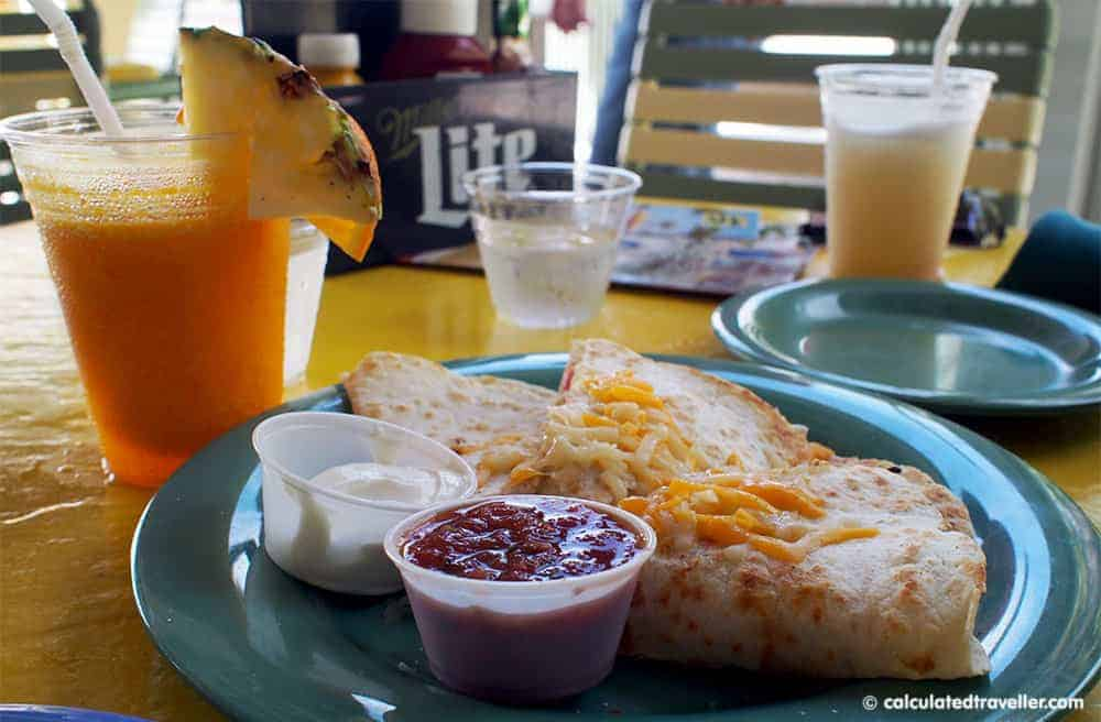 Fun in the Sun on St. Pete Beach Florida at Sirata Beach Resort - Rum Runners Quesadillas
