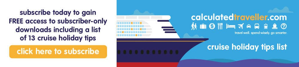 Cruise Tip Subscribe