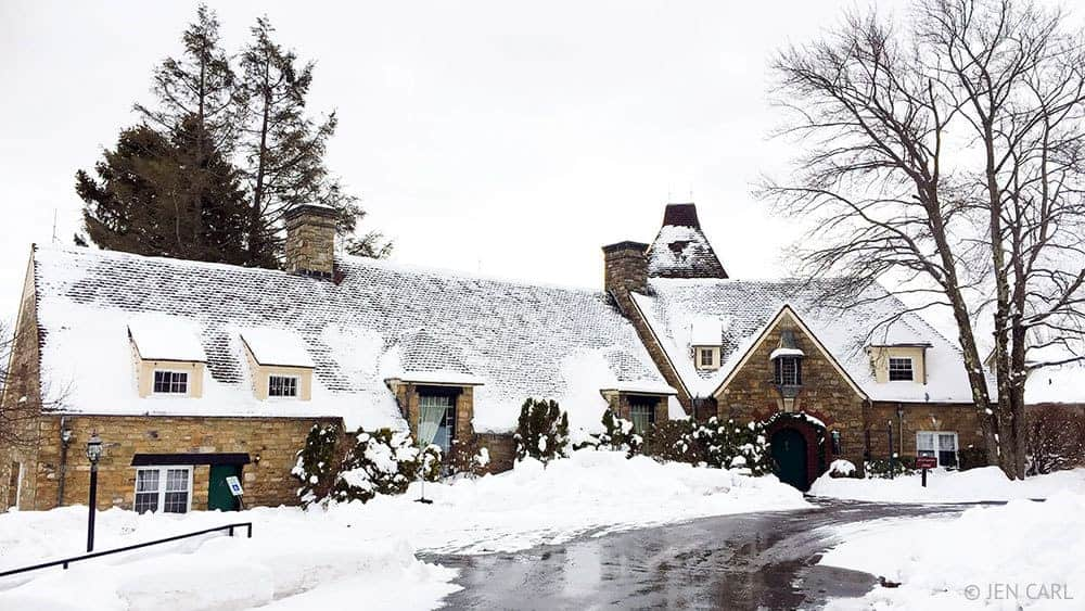The French Manor Inn and Spa - A Couples Getaway in the Heart of the Poconos - Exterior view in the winter