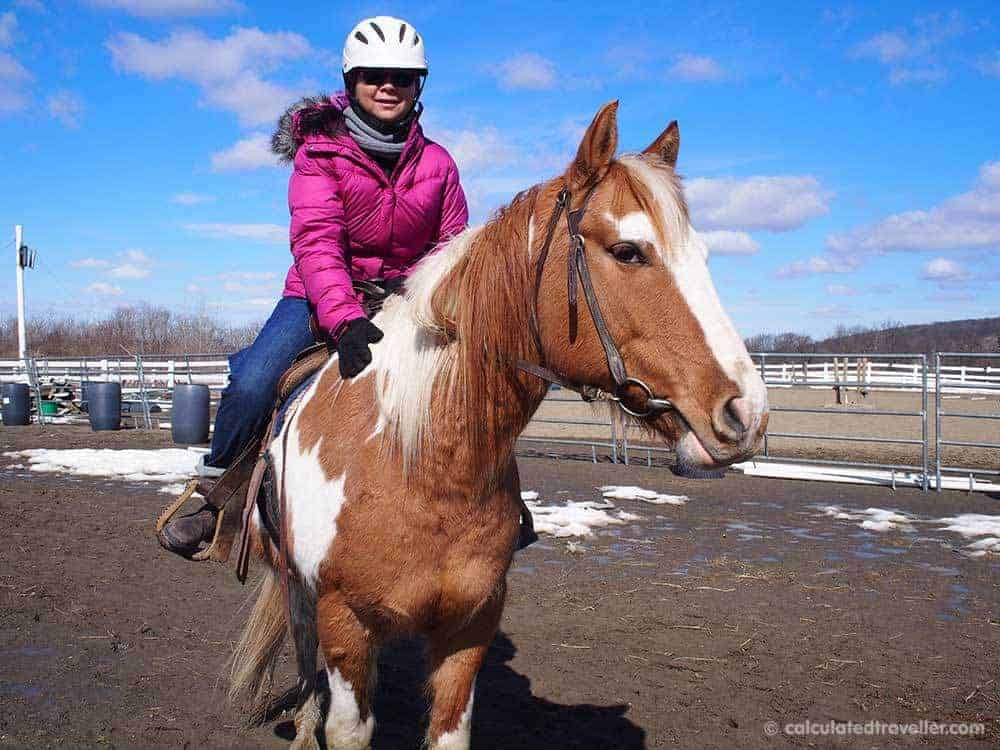 Horseback Riding with Painted Bar Stables at Watkins Glen NY by Calculated Traveller