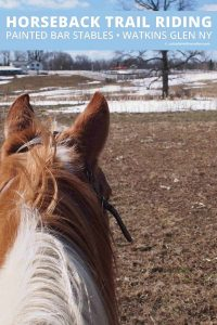 Horseback Riding with Painted Bar Stables at Watkins Glen NY by Calculated Traveller | #horse #ride #trail #NewYork #travel #FingerLakes #WatkinsGlen