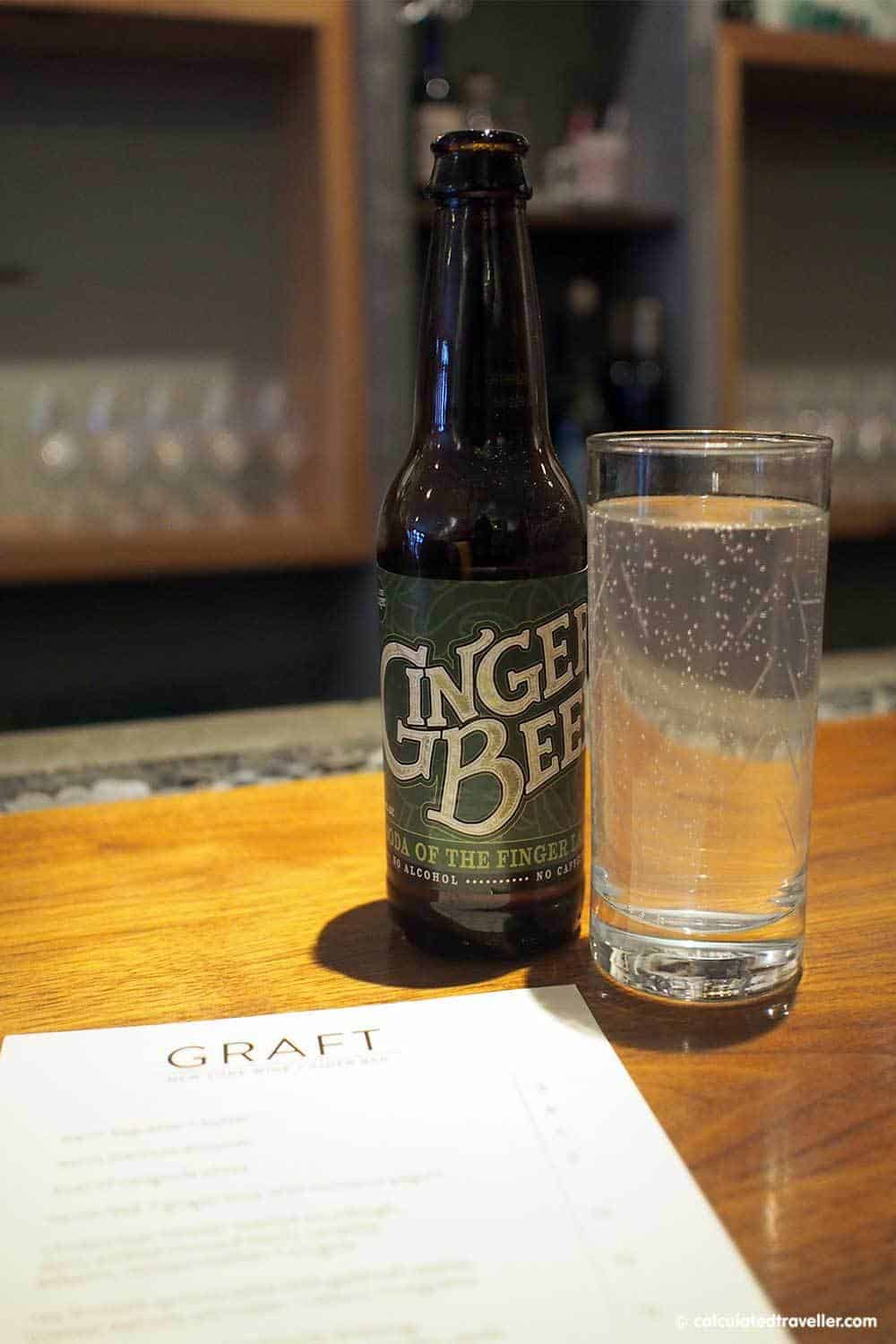 Graft Wine and Cider Bar, Watkins Glen New York Ithaca Soda Company Ginger Beer