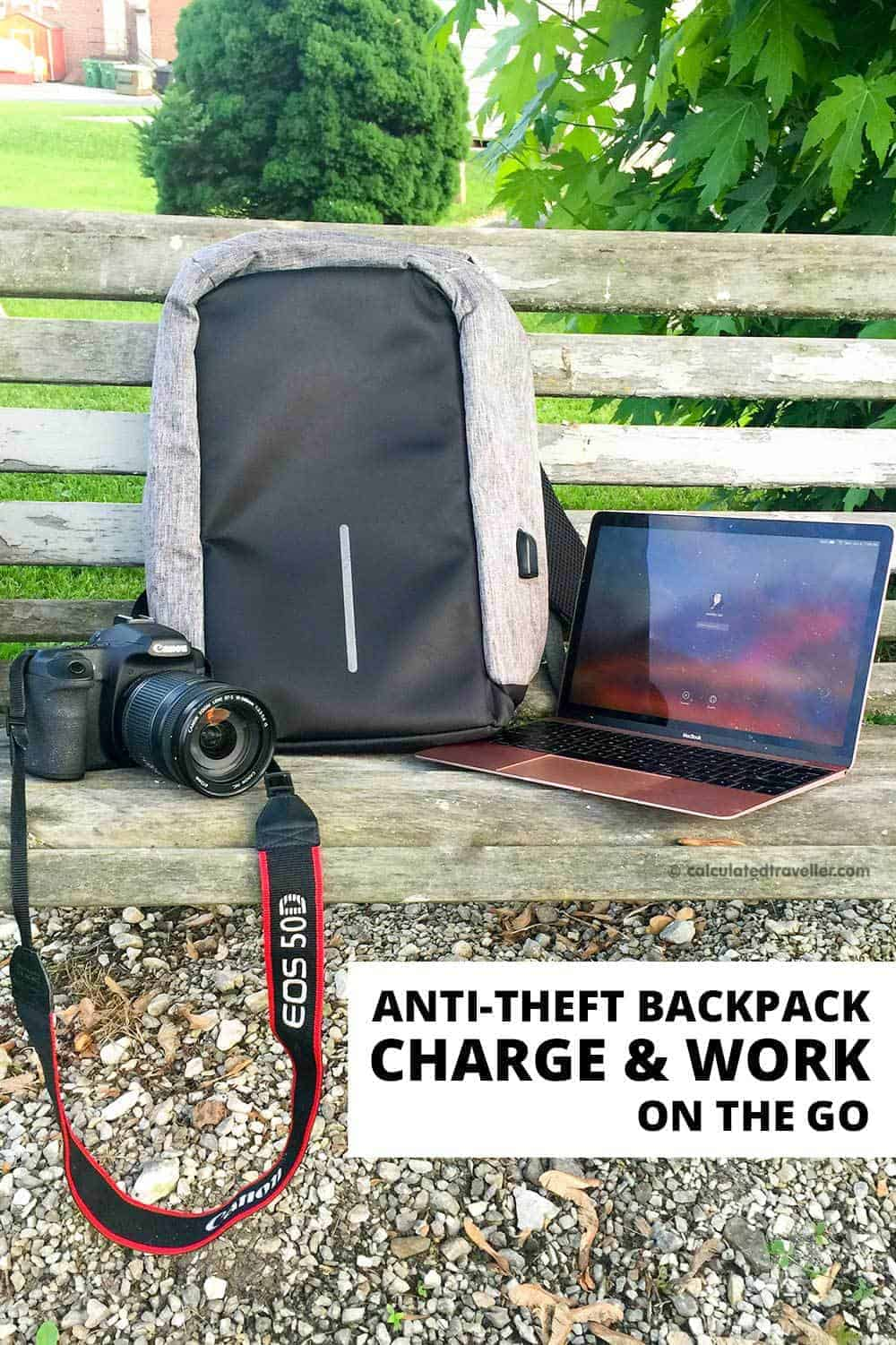 Super Secure Anti-Theft Backpack Review: Charge and Work on the Go #review #backpack #travel #work #USB #charger