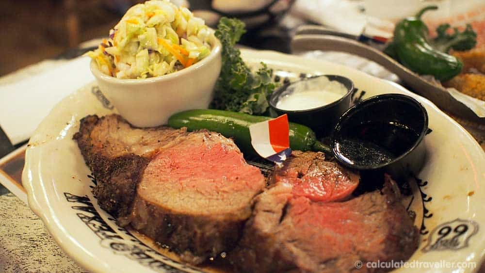 Eating BIG - at the Big Texan Steak Ranch and Brew in Amarillo Texas - Prime Rib