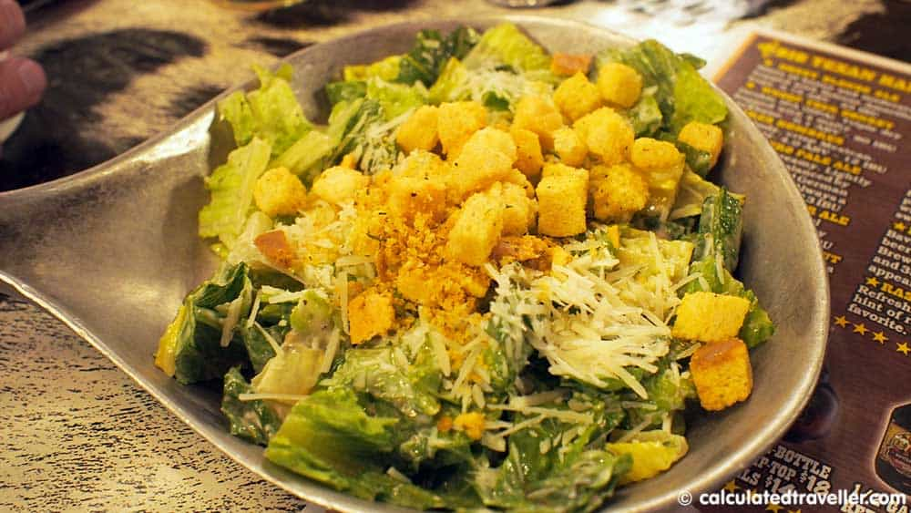 Eating BIG - at the Big Texan Steak Ranch and Brew in Amarillo Texas - Caesar Salad