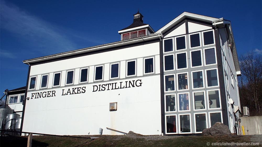 Gin Blending at Finger Lakes Distillery Watkins Glen NY - Exterior View