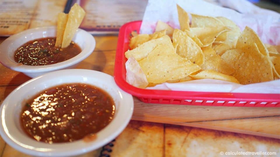 Tex Mex Good Eats at Bracheros Mexican Grill and Bar Amarillo Texas - Chips and Salsa