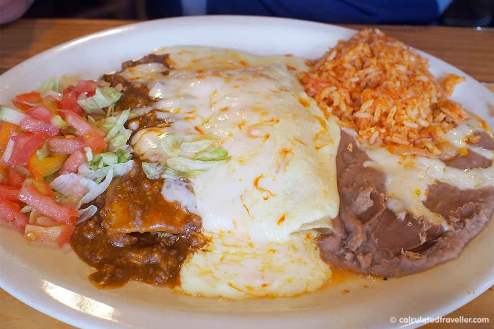 Tex Mex Good Eats at Braceros Mexican Grill and Bar Amarillo Texas - Beef and Chicken Enchilada