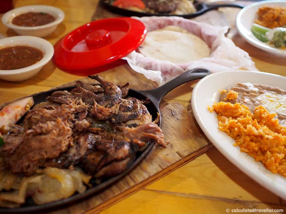 Tex Mex Good Eats at Braceros Mexican Grill and Bar Amarillo Texas - Fajita Trio of Quail, Lamb and Goat