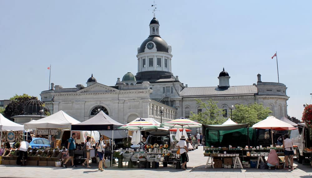 Welcome to the Limestone City of Kingston, Ontario - Kingston City Hall and Market