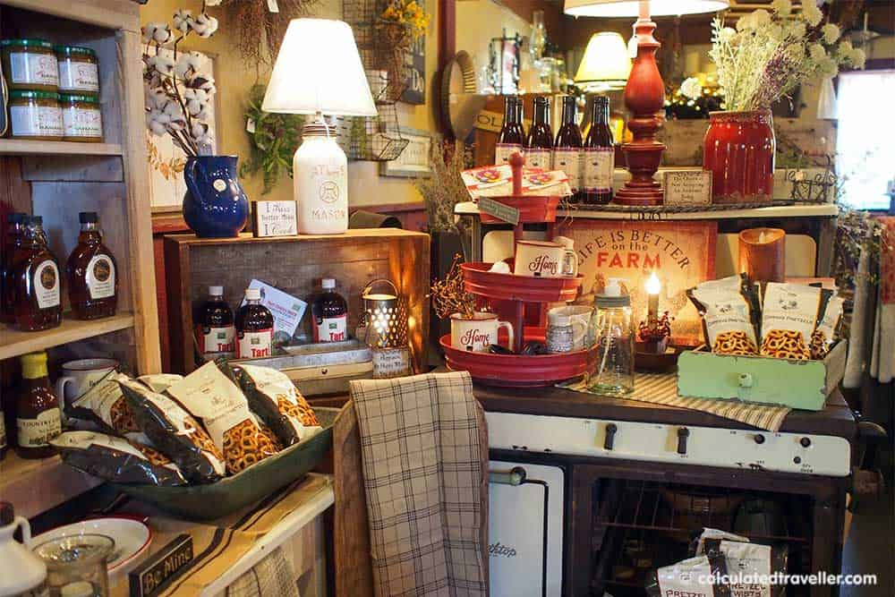 Relaxing Elegance at River Spring Lodge Darien Center New York - Inside Country Cottage Gift Shop