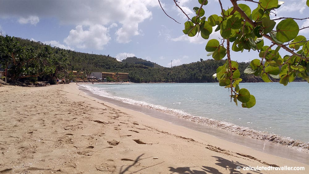 An Enjoyable Day on Emerald Beach in St Thomas USVI - down the beach
