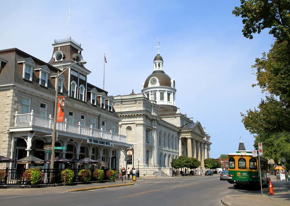 Welcome to the Limestone City of Kingston, Ontario - Street view of downtown Kingston Ontario
