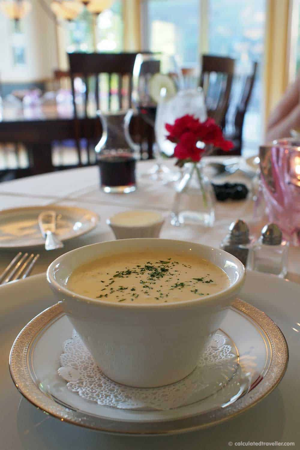 Relaxing Elegance at River Spring Lodge Darien Center New York - Blue Crab Bisque