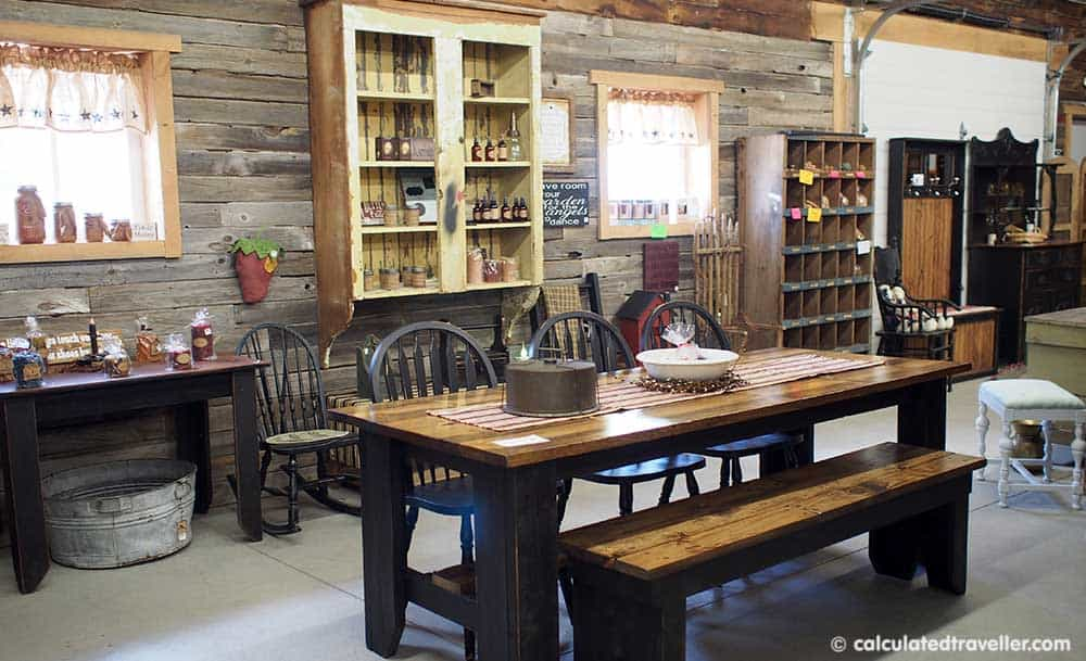 Relaxing Elegance at River Spring Lodge Darien Center New York - Inside Primitives and Produce at The Farm