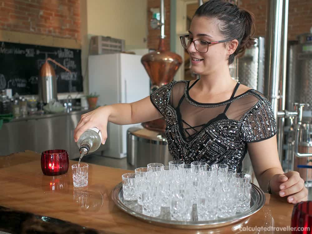 Temperance and Temptations Tour: The Headwaters Story of Prohibition in Ontario - Grand Spirits Distillery Tasting Gin