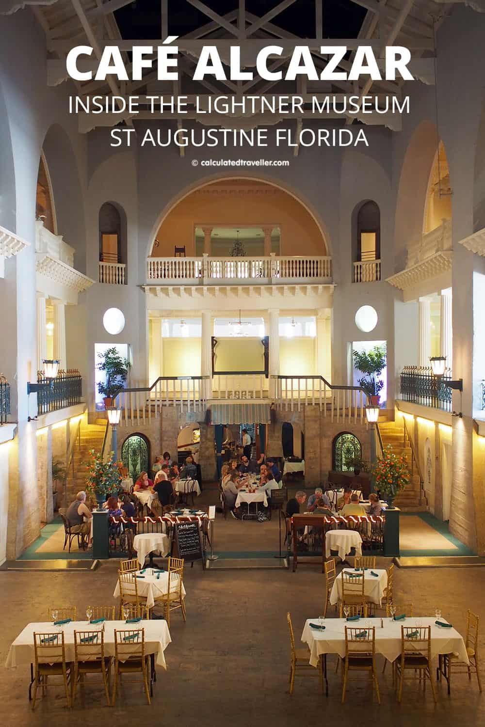 A Traveller's Guide to St Augustine Florida - History and Fun. Café Alcazar in the historic Lightner Museum is a one of kind experience surrounded by history in St Augustine Florida