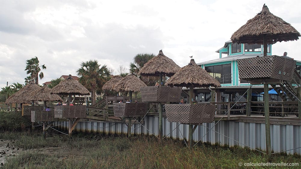 A Traveller's Guide to St Augustine Florida - History and Fun. Conch House Marina Restaurant exterior view.