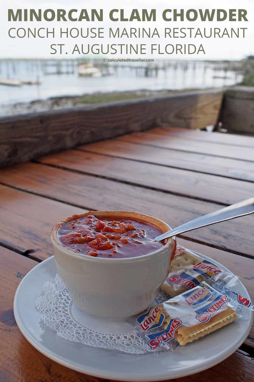 A Traveller's Guide to St Augustine Florida - History and Fun. Conch House Marina Restaurant Minorcan Clam Chowder. #StAugustine #Florida #restaurant #chowder #marina #USA #travel