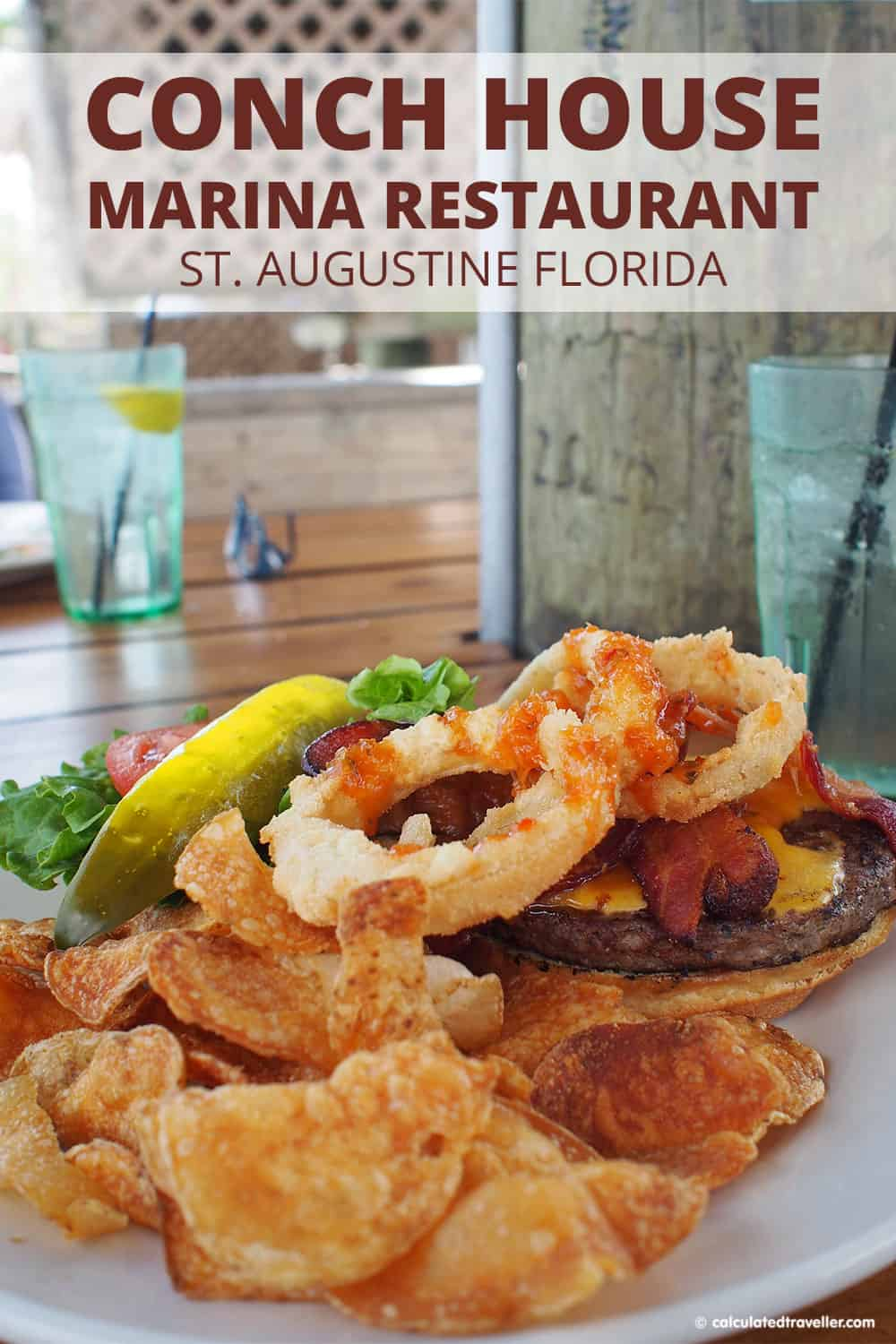 A Traveller's Guide to St Augustine Florida - History and Fun. Conch House Marina Restaurant is a great place with fresh seafood right on the waterfront. #StAugustine #Florida #marina #seafood #resturant