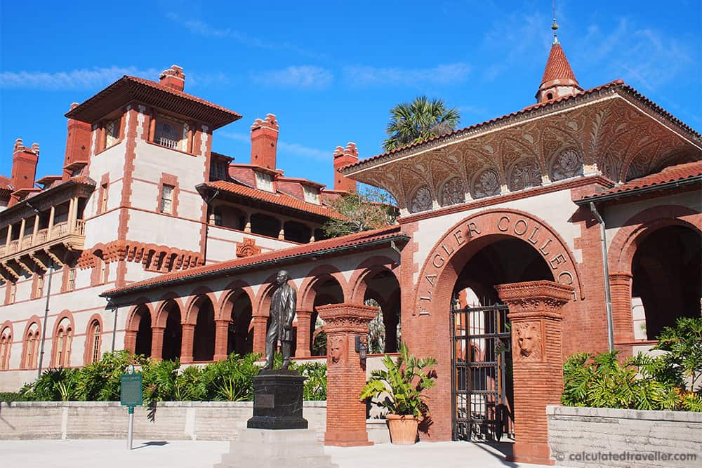 A Traveller's Guide to St Augustine Florida - History and Fun. Flagler College