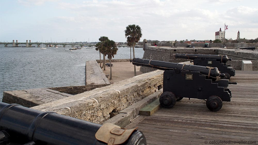 A Traveller's Guide to St Augustine Florida - History and Fun. Fort Castillo de San Marcos.