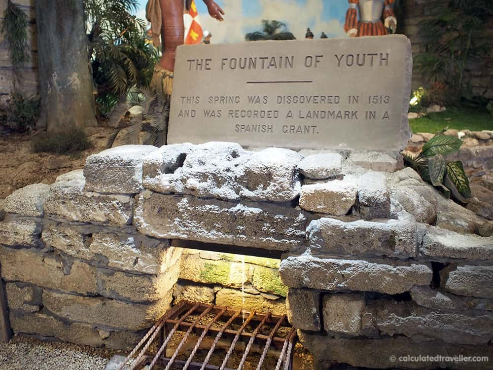 A Traveller's Guide to St Augustine Florida - History and Fun. Fountain of Youth.