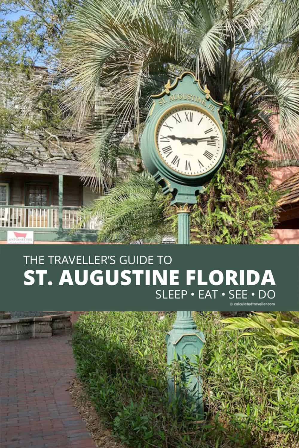 A Complete Traveller's Guide to St Augustine Florida - History and Fun. | #travel #guide #tips #advice #StAugustine #Florida #travel #USA