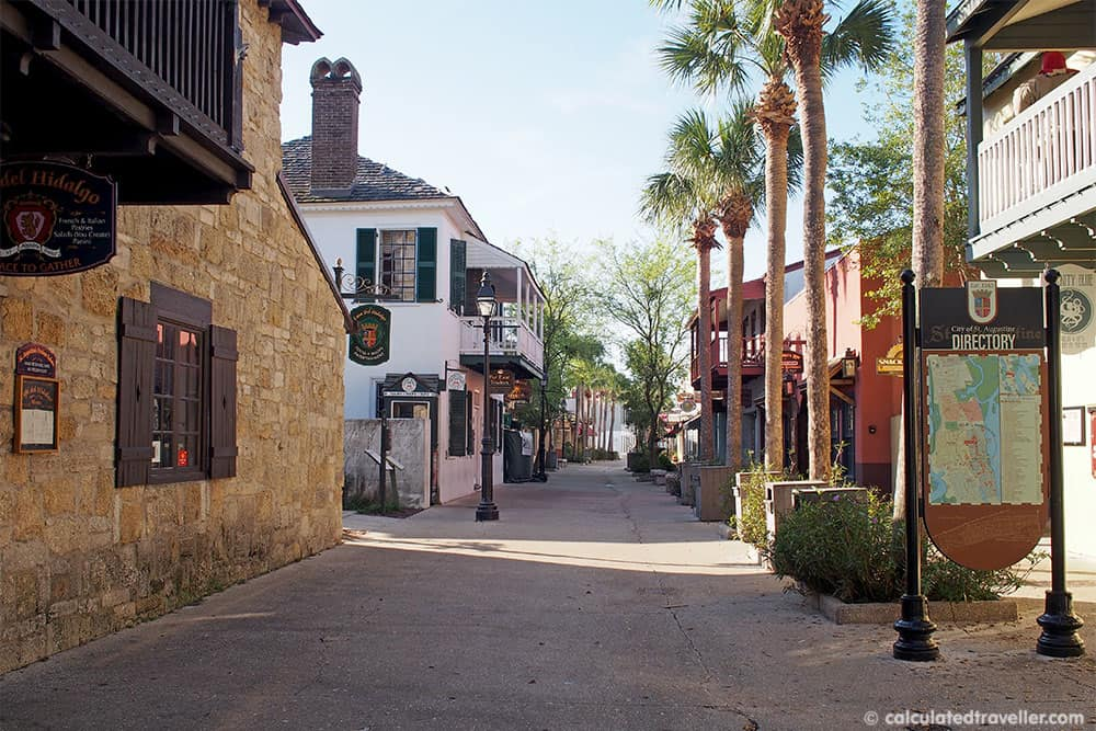 A Traveller's Guide to St Augustine Florida - History and Fun. St Augustine Old Town