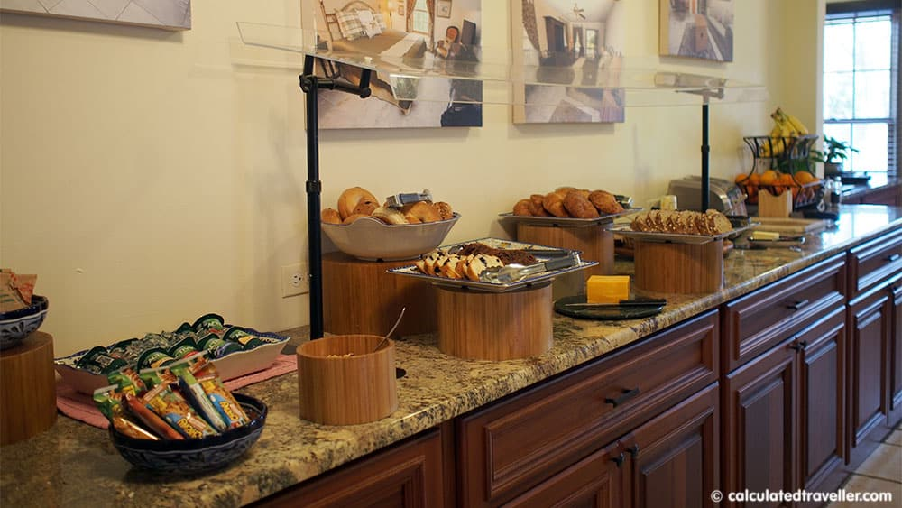 Surrounded by History at the St George Inn, St. Augustine Florida - Breakfast selection
