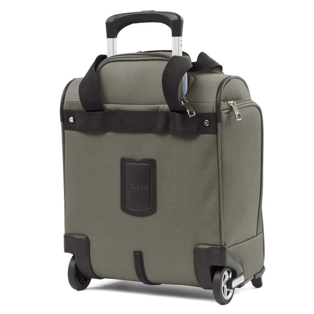 Review: TravelPro MaxLite 5 Rolling Under Seat Carry On. Exterior view of the back.