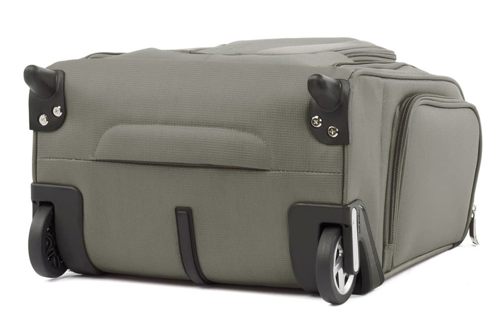Review: TravelPro MaxLite 5 Rolling Under Seat Carry On. Exterior view of the bottom.
