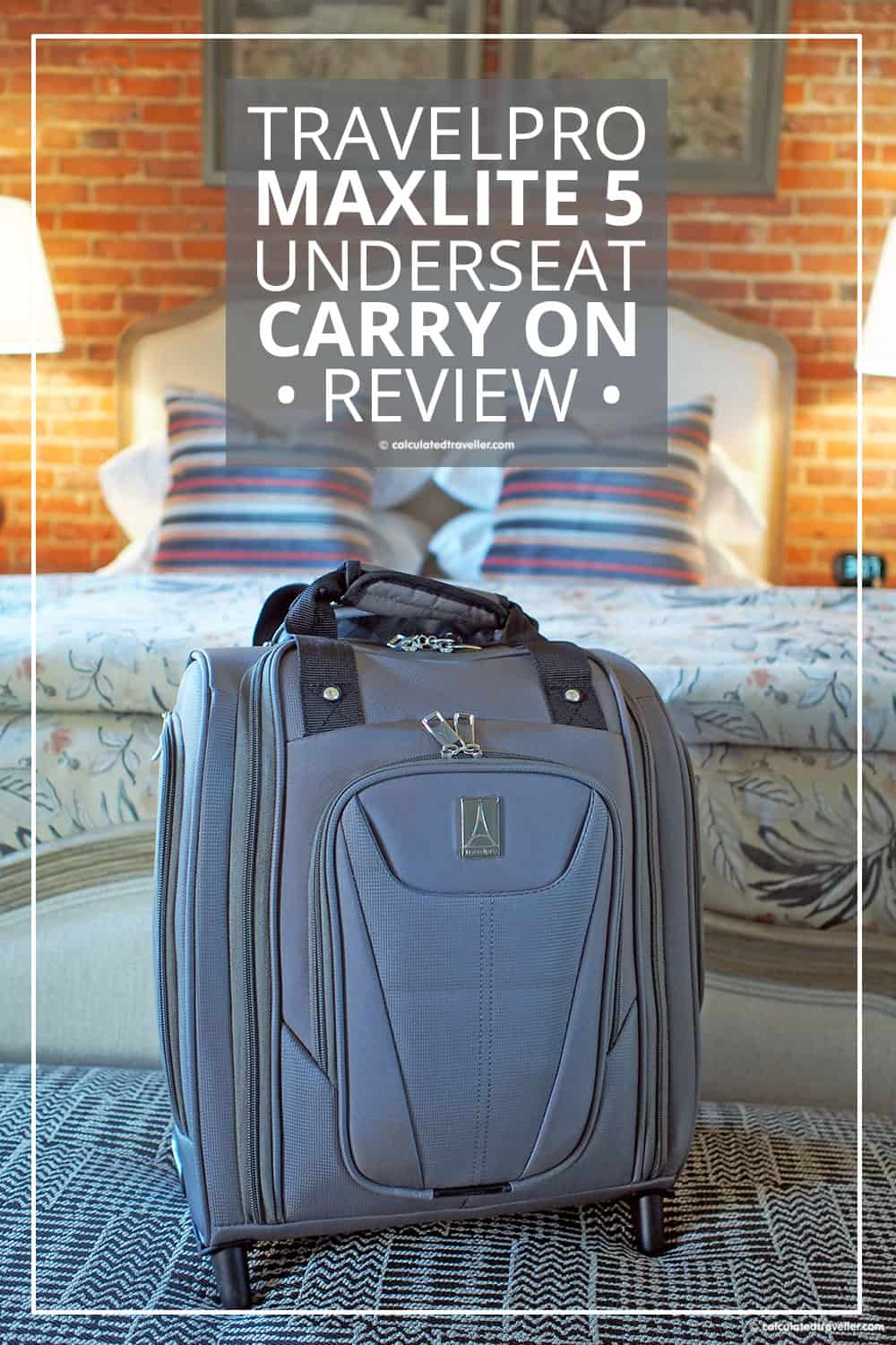 Review: TravelPro MaxLite 5 Rolling Under Seat Carry On Suitcase | #travel #packing #suitcase #luggage #bag