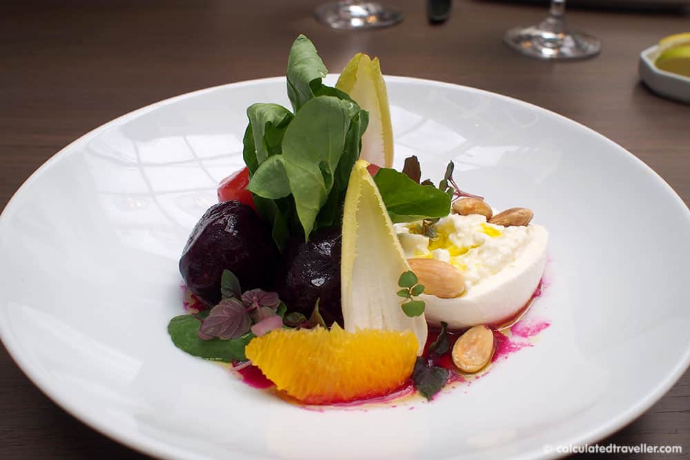 Sassafraz Restaurant Beet and Burrata Salad