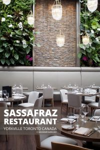 Exploring the Village of Yorkville Toronto. A Day of Food, Architecture and History - Sassafraz Restaurant Toronto #Toronto #travel #restaurant #Ontario #Canada #food