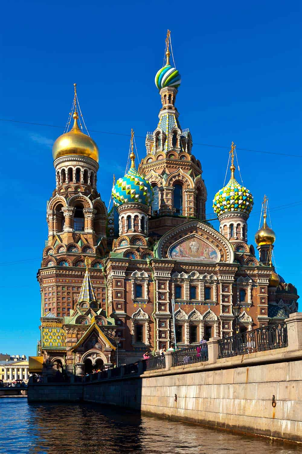 5 Best European Adventures for History Buffs. Church of the Saviour in St Petersburg Russia. #Europe #travel #history #architecture #tours